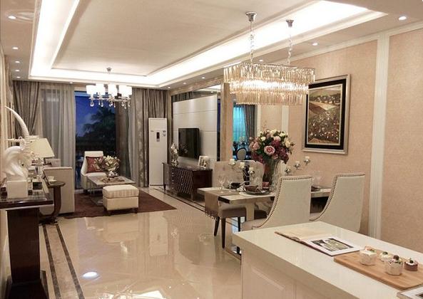 临桂国惠村现代简约三居室装修效果图