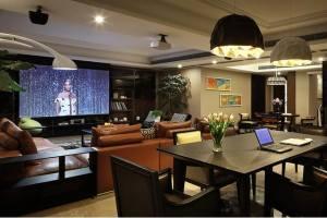 北岸江山现代风格三居室装修风格