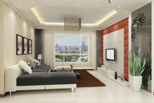 豪布斯卡现代简约风格二居家装效果图
