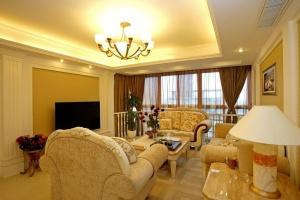 香缤国际城欧式风格三居家装效果图