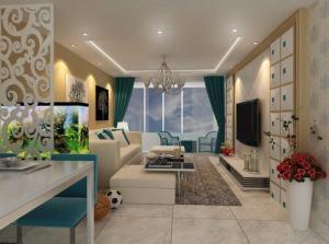 新园绿洲现代简约风格二居装修效果图