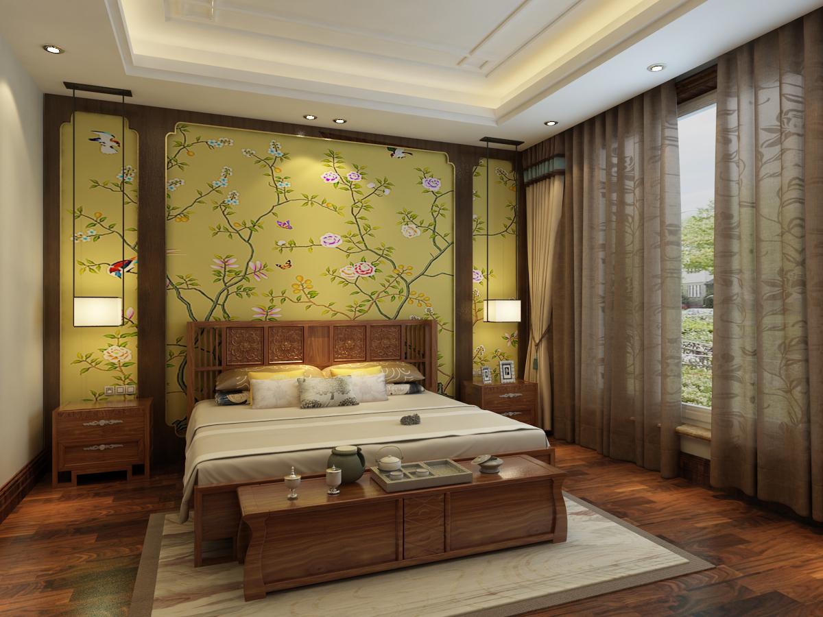 颐和庄园三期220平米中式家装效果图