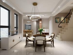 衢州香榭丽舍21栋中式跃层式家装效果图
