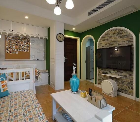 小公寓美式一居家装效果图