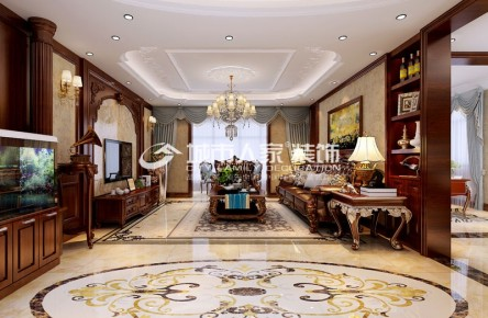 东方雅园200平米四室两厅欧式风格