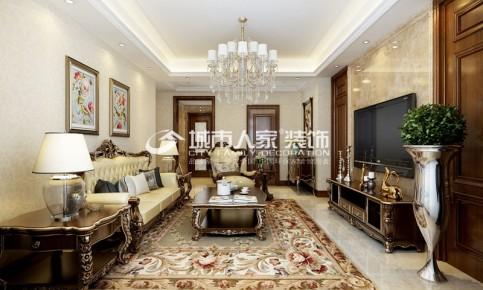 龙城湾150平米三室两厅欧式风格
