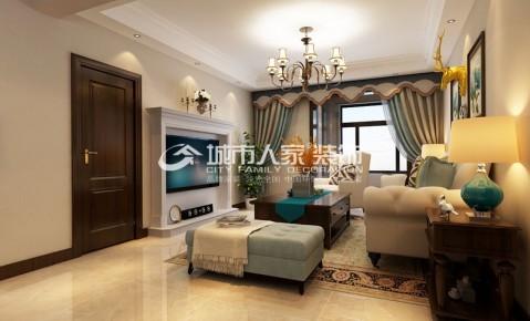 中正睿成130平米三居室简美风格