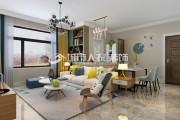 保利百合83平米两居室现代简约风格