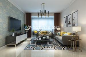 和易嘉园136平米三居室现代简约风格