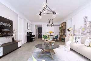 现代风格世茂云锦小区105平三居室