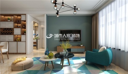 中正锦城130平米北欧风格