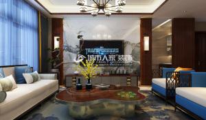 复地东山国际190㎡新中式风格
