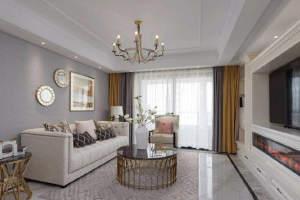 天一仁和天镜128㎡美式风格  三居室