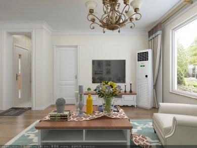 百通馨苑90㎡美式风格二居室