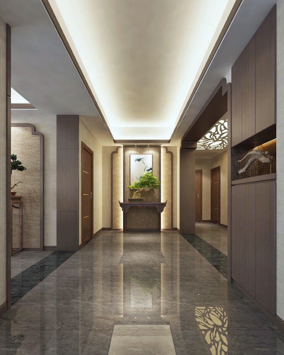 中信金城新中式198㎡中式风格四居室