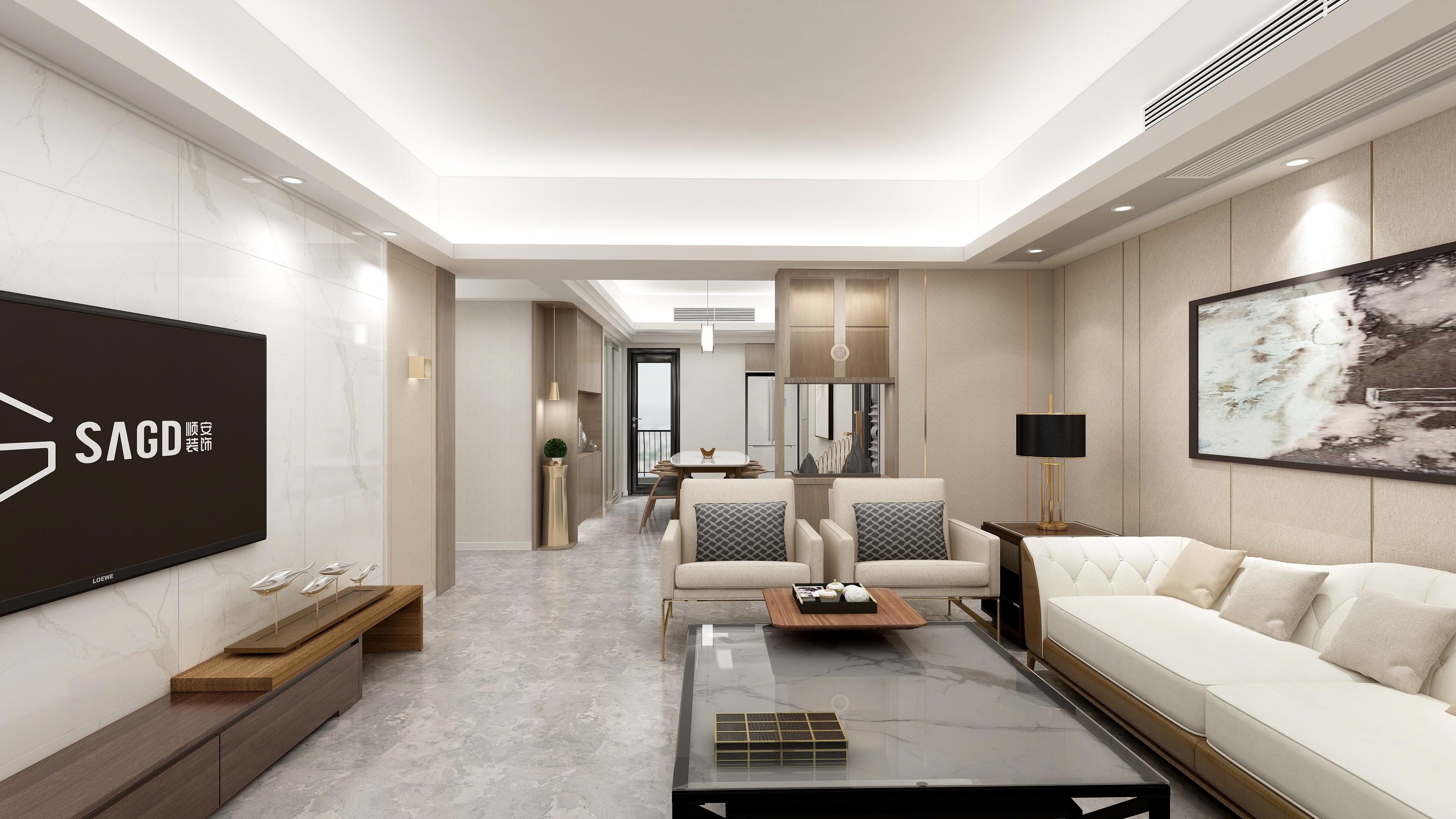 君悦海湾4栋1302号房143m²现代风格