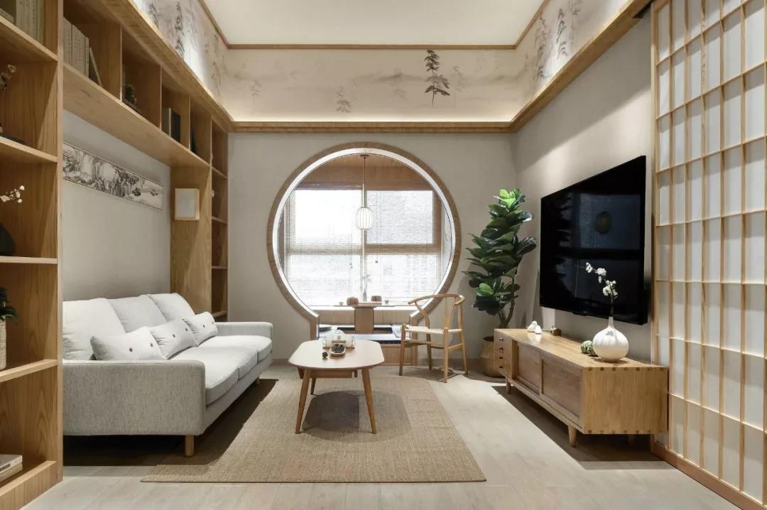 105㎡原木日系家居风格家装设计方案