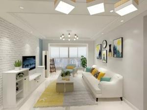 98㎡紧凑型三居室简约风格
