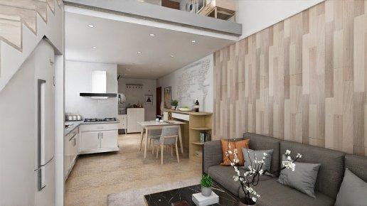 滨海1号loft  47㎡  现代简约风格